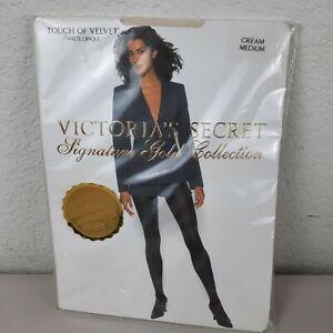 Vintage Victoria's Secret Signature Gold Collection Velvet/ Cream  Medium  Matte