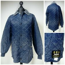 Mens Barbour Liddesdale Quilted Jacket Size XL Snap Button Pockets Collared