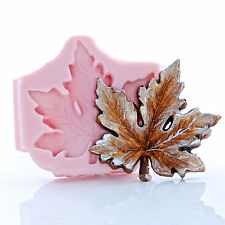 Maple Leaf Silicone Mold Food Safe Fondant Gum Paste Chocolate Mint Mould  (745)