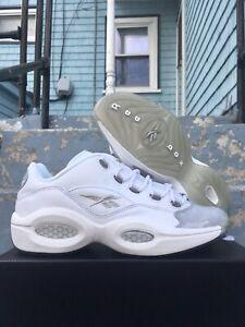 UNRELEASED Reebok Question Low 11 White Grey Toe Summer Silver Anniversary