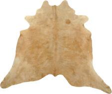 Peau de Vache Taureau Marron Clair 210 X 200 cm Peau de Bœuf Tapis Peau de Vache