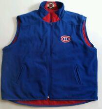 VINTAGE MONTREAL CANADIENS NHL RED & BLUE REVERSIBLE VEST JACKET SZ XL
