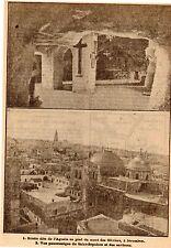 IMAGE 1917 PRINT JERUSALEM GROTTE DE L AGONIE SAINT SEPULCRE ISRAEL