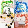 107/108PCs Balloon&Chain Arch Kit  Party Decoration Turtle Leaf Confetti Set