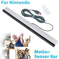 Wired Remote Motion Sensor Bar IR Infrared Ray Inductor for Nintendo Wii / Wii U