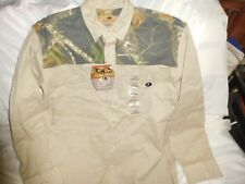 Mossy Oak ~ Men's Heavy Shirt ~ Size Large ~ Khaki