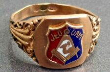 Rare Jr. OUAM masonic fraternal men's antique ring