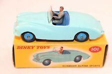 Dinky Toys 101 Sunbeam alpine Sports blue near mint in a SUPER box all original