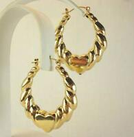 18K Gold Plated Heart Hoop Earrings - LIFETIME WARRANTY