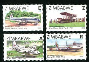 new 2020 ZIMBABWE - CENTENARY of AVIATION - MNH