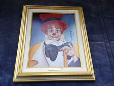 Clowns Clown by RED SKELTON - Painting Print canvas Rare estate Carol Burnett