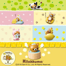 Rilakkuma McDonald's Happy Meal Toys Set of 6 Complete & Stickers 2018 Japan F/S