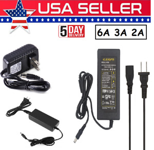 Power Supply Adapter 2A/3A/6A Charger US Plug For 5050/3528 LED Strip Light CCTV