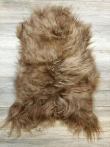 WOOOL Sheepskin Icelandic Brown | LARGE | Soft | 100% ECO | Soft Wool Rug
