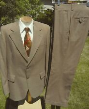 Vintage Late 1960s Viracle Wool Suit 42L 36x30 - Wrinkle Resistant - Alterable