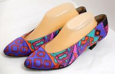 VGUC Bruno Magli Women's Size 10B Brilliant & Colorfully Artistic Silky Heels