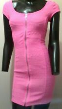 Zip-Through Mini Dress, H&M - DIVIDED, Fluoro Pink, Size XS