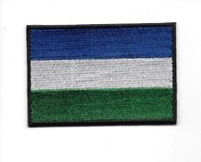 SIERRA LEONE : Embroidered Flag Iron on Sew on Patch Badge HIGH QUALITY APPLIQUE