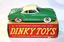 Dinky #187 - Volkswagen Karmann Ghia Coupe, Superb in Original Box