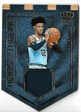 JA MORANT 2019 PANINI CROWN ROYALE ROOKIE JERSEY RC CARD!