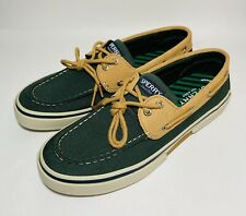 Sperry Top-Sider Boat Shoes Dark Green Light Brown Tan Khaki NEW Men's Size 9.5