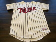 MLB Minnesota Twins Johan Santana Majestic Youth Stitched Jersey-size Large