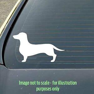 120mm Dachshund dog silhouette decal for a car / caravan / truck / toolbox