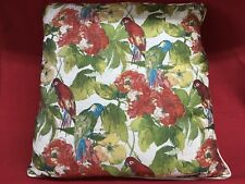 "American Mills Floral Birds 22"" Square Soft Plush Accent Down Feather Pillow"