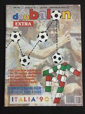 REVISTA DON BALON FUTBOL MUNDIAL EXTRA ITALIA 90 1990