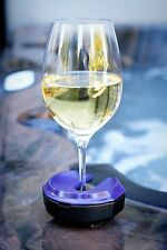 Outdoor Wine Glass Holder With Attachments Marine Blue by Bella D'vine