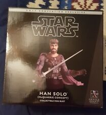 Star Wars Gentle Giant Sdcc McQuarrie Concept Han Solo Bust