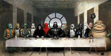 Nathan Szerdy SIGNED Star Wars Art Print Darth Vader Boba Fett Emperor Jabba