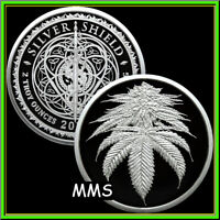 2021 2oz King Cannabis Proof Silver Shield Cures Weed Smoke Legalize PRESALE