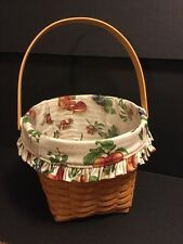"2000 Longaberger 9"" Measuring Basket, New Fruit Medley Liner, & Protector"