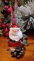 Vintage 1969 CHRISTMAS SANTA PINECONE Ornament by Christmas Creations Japan
