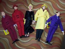 Dick Tracy Dolls Applause Walt Disney Gangsters, Dick, Mahoney Lot Of 5 Nice!