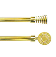 Bastone tenda estendibile 120-210cm acciaio cromato dorato strass asta 16 anelli