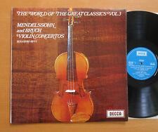 SPA 88 Ruggiero Ricci Mendelssohn Bruch Violin Concertos Decca Stereo EXCELLENT