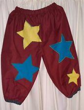 CHILDRENS APPLIQUED STAR FANCY DRESS CLOWN TROUSERS