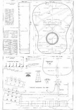martin D28 style acoustic Guitar Plans -  full scale - detailed  FREE SHIPPING