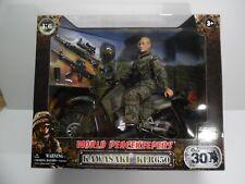 "Gi Joe 12"" World Peacekeepers Kawasaki klr650 Motorcycle Figure 1:6 Doll"