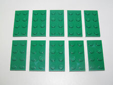 Lego ® Lot x10 Plaques Double Vert 2x4 Plate Green ref 3020 NEW