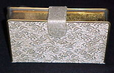 Graceline Original Evening Purse Hardshell Gold Brocade Clutch Box Mirror Vtg