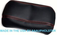 Armrest Cover for 06-11 Honda Civic PVC Leather Center Console Lid Red Stitch