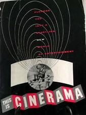 Vintage Souvenir This is Cinerama Movie Screen Projector Program 1954