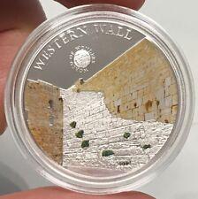 2012 ISREAL Western Wailing Wall WORLD WONDER Silver Proof Coin of PALAU  i65219