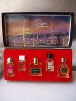 PARFUMS DE FRANCE CHARRIER 5x3ml VINTAGE 1950s PARFUM MINIATURES NEAR MINT BOX
