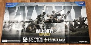 Call Of Duty WW II EX C8 Poster 6FT x 3FT Sony Playstation  PS4 RARE PROMO