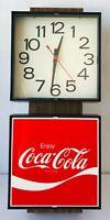 Coke Wall Clock Enjoy Coca Cola Vintage 1976 Ingress Plastene Model G018 Electri