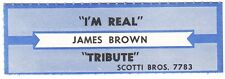 Juke Box Strip JAMES BROWN - I'M REAL / TRIBUTE